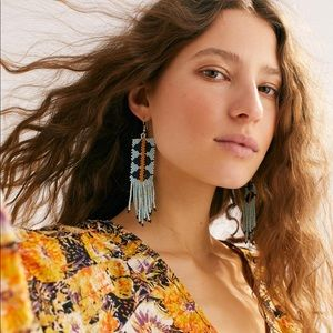 Free people beaded earrings